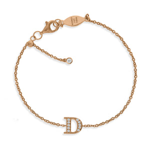 "BT-26/R/D - Initial ""D"" Bracelet Adjustable Size"
