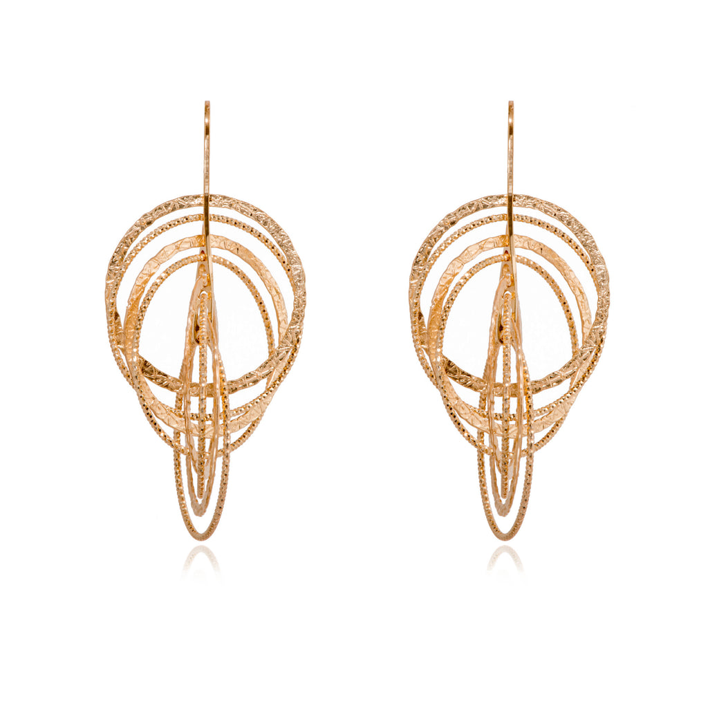 EX-036/G - Diamond Cut 3D earrings