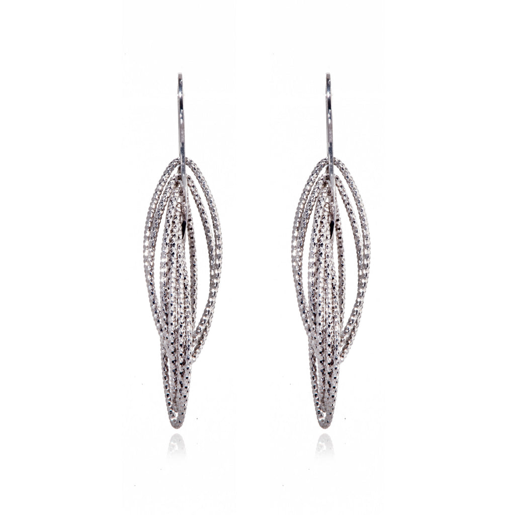 EX-033/S - Multi ellipse intertwined 3D drop hook earrings