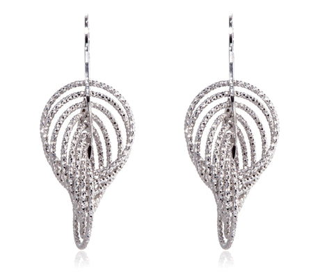 EX-032/S - Large multi hoop intertwined diamond cut earrings