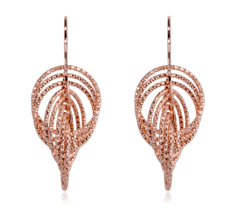 EX-032/R - Large multi hoop intertwined diamond cut earrings