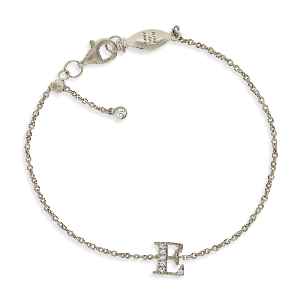 "BT-26/S/E - Initial ""E"" Bracelet adjustable length.(NEW)"