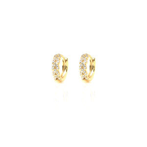 EF-6/G - Huggies with Entwined Cubic Zirconia