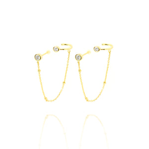 EG-31/G - Stud plus Chain with Ear-Cuff Attached (Price per single earring)
