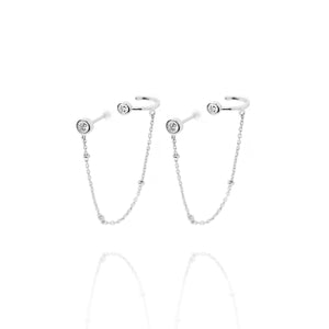 EG-31/S - Stud plus Chain with Ear-Cuff Attached (Price per single earring)