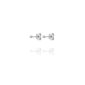 EG-5/S - Very Small Cubic Zirconia Stud Earrings