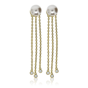 EH-75/G - Pearl Stud Earrings