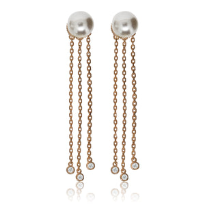 EH-75/R - Pearl Stud Earrings