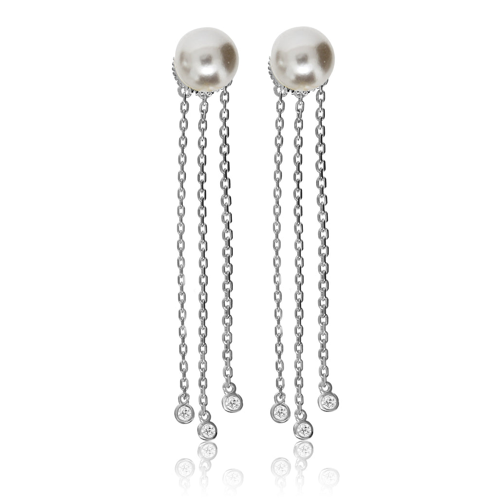EH-75/S - Pearl stud earrings