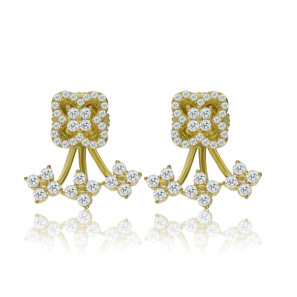 EH-78/G - Cubic Zirconia Ear Jacket Earrings
