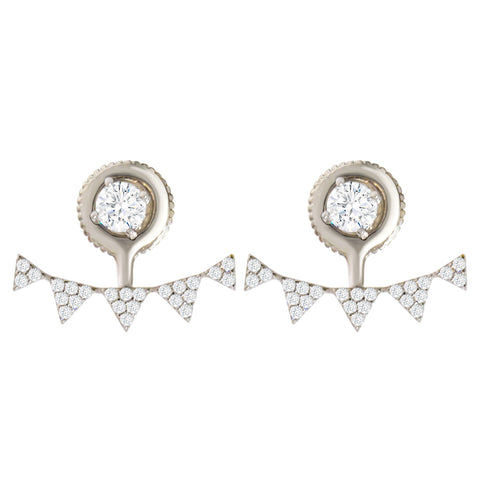 EH-58/S - Sterling  Silver earrings with Cubic Zirconia (NEW)
