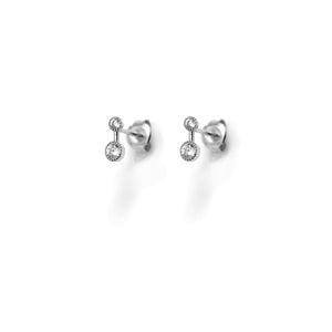EK-41/S - Stud Earrings with 2 Cubic Zirconia