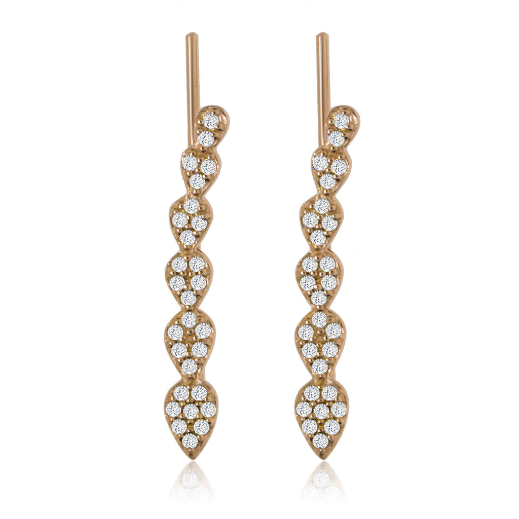 ET-4/R - Climbing Earrings with CZ