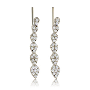 ET-4/S - Climbing Earrings with CZ