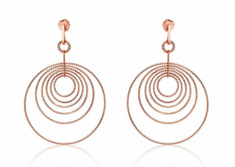 EX-011/R - Multi hoop diamond cut earrings.
