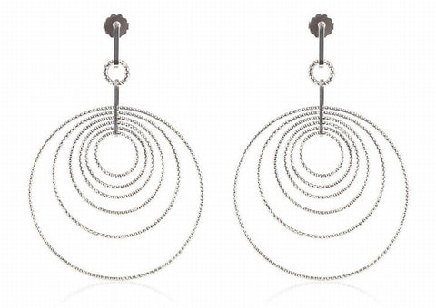 EX-011/S - Multi hoop diamond cut earrings