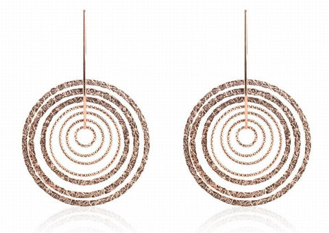 EX-013/R/R - Two textured diamond cut hoop earrings