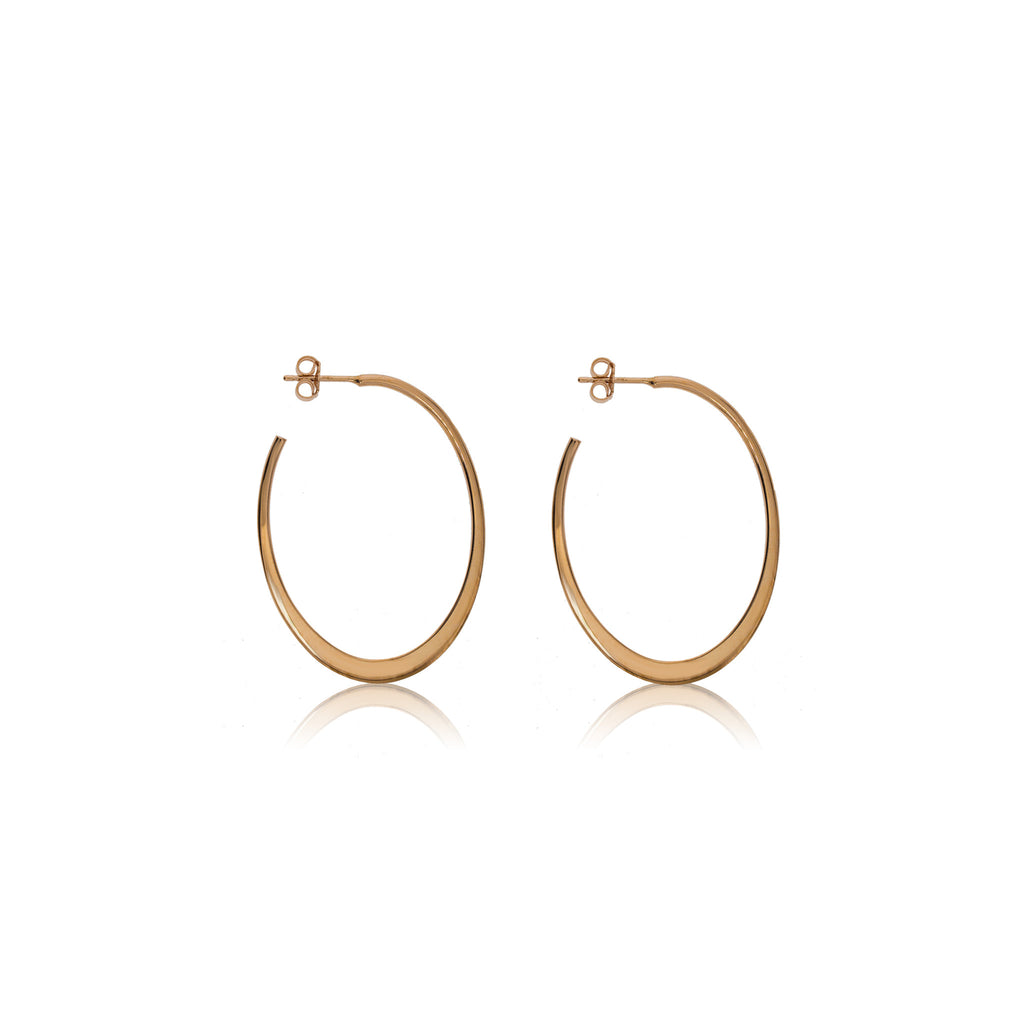 EX-82/R - Rose Gold Plated on Silver open hoop earrings (NEW)