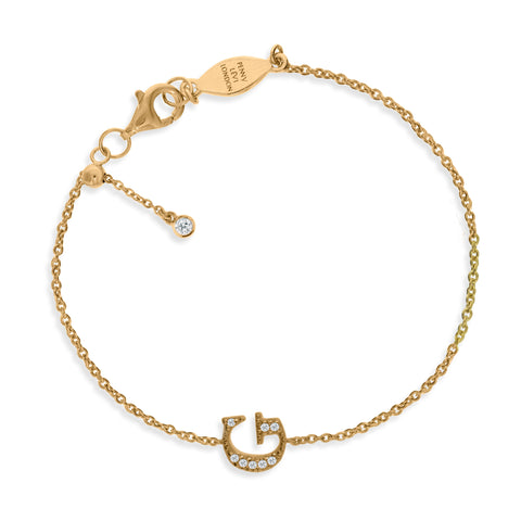 "BT-26/G/G - Initial ""G"" Bracelet adjustable length.(NEW)"