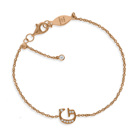 "BT-26/R/G - Initial ""G"" Bracelet adjustable length.(NEW)"