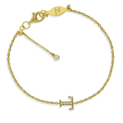 "BT-26/G/T - Initial ""T"" Bracelet adjustable length.(NEW)"