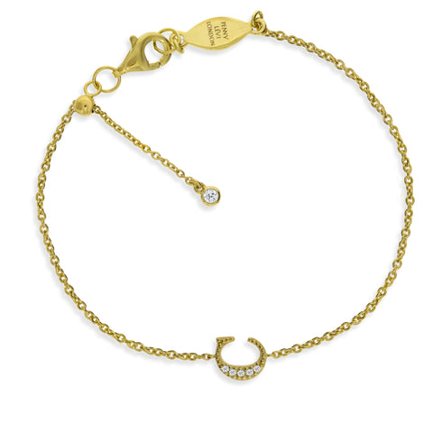"BT-26/G/C - Initial ""C"" Bracelet adjustable length.(NEW)"