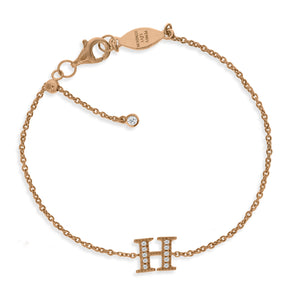"BT-26/R/H - Initial ""H"" Bracelet Adjustable Size"