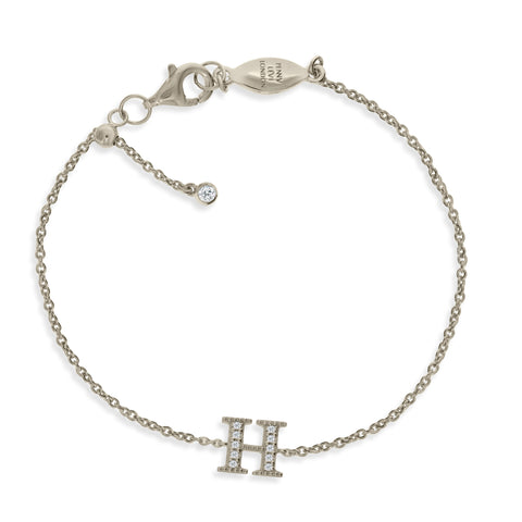 "BT-26/S/H - Initial ""H"" Bracelet adjustable length.(NEW)"