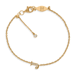 "BT-26/G/J - Initial ""J"" Bracelet Adjustable Size"