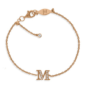 "BT-26/R/M - Initial ""M"" Bracelet Adjustable Size"