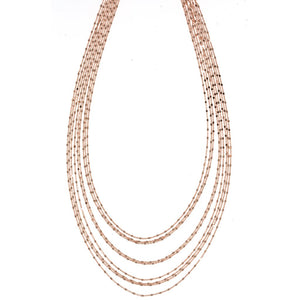 NDY-385/R - 9 Strand Short Chain Necklace