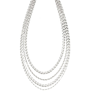 NDY-385/S - 9 Strand Short Chain Necklace