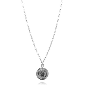 NE-3/S - Long Chain Necklace with Coin Pendant