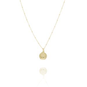 NE-6/G - Short Chain with Two  Coin Pendant