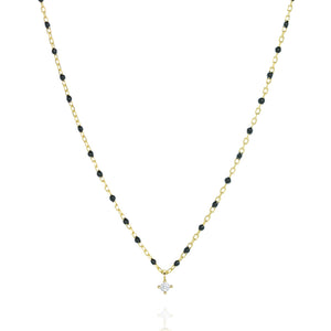 NG-10/GB - Short Chain and Bead Necklace