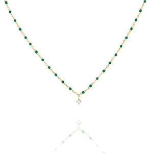 NG-10/G/GR - Short Chain and Bead Necklace (New Colour)