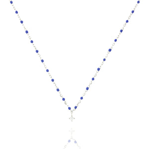 NG-10/SBL - Short Chain and Bead Necklace (new colour)