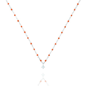 NG-10/SO -  Short Chain and Bead Necklace (new colour)
