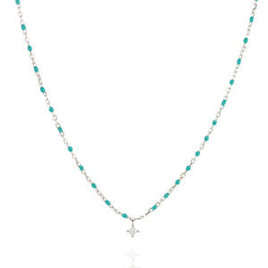 NG-10/ST - Short Chain and Bead Necklace