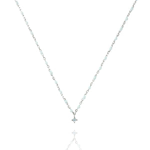 NG-10/SW -  Short Chain and Bead Necklace (new colour)