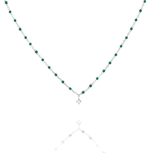 NG-10/S/GR -  Short Chain and Bead Necklace (New Colour)