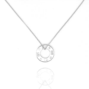NG-21/S - Chain and Pendant with Hollow Disk and Cubic Zirconia