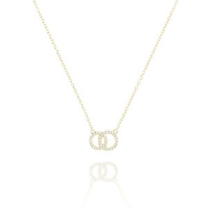 NG-7/G - Intertwined Circle Necklace