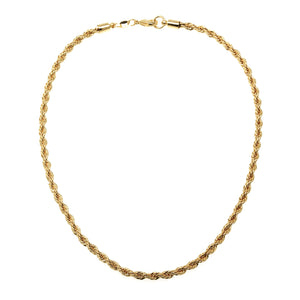 NGF-3/G - Gold-filled Rope Chain Necklace