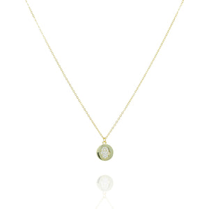 NK-41/G - Short Chain Necklace with Disk Pendant