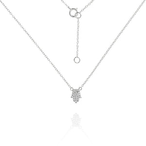 NG-53/S - Delicate Chain and Hamsa necklace