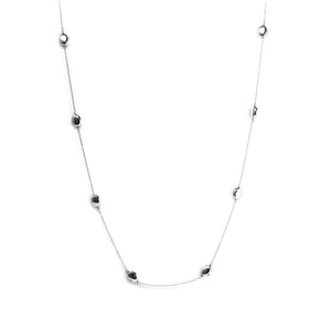 NK-59/S - Long Chain Necklace with raised oval elements