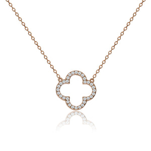 NK-63/R - Chain Necklace with Clover Charm