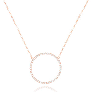 NK-68/R - Chain and Cubic Zirconia Rimmed Circle