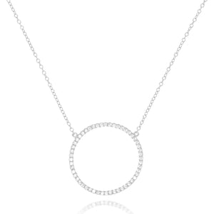 NG-68/S - Chain and Cubic Zirconia Rimmed Circle